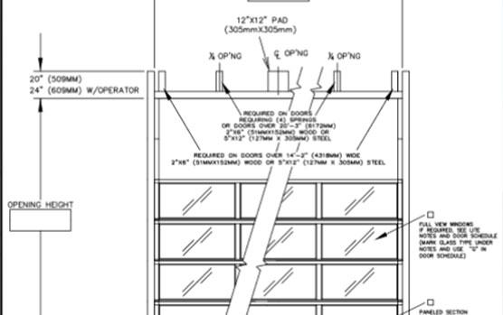 AV300 overhead doors