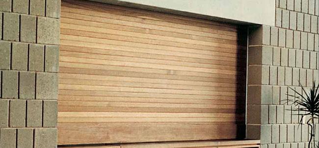 Wood Counter Shutters overhead doors