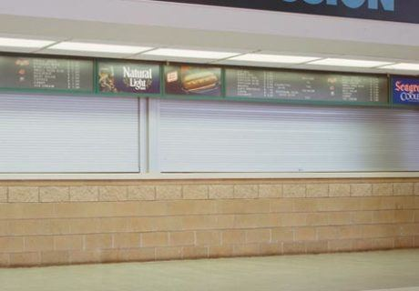 Counter overhead doors