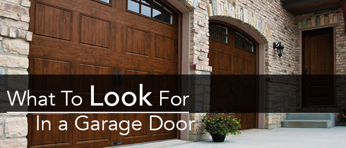 What to look for in a garage door